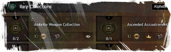 Rare Collections Achievements gidas