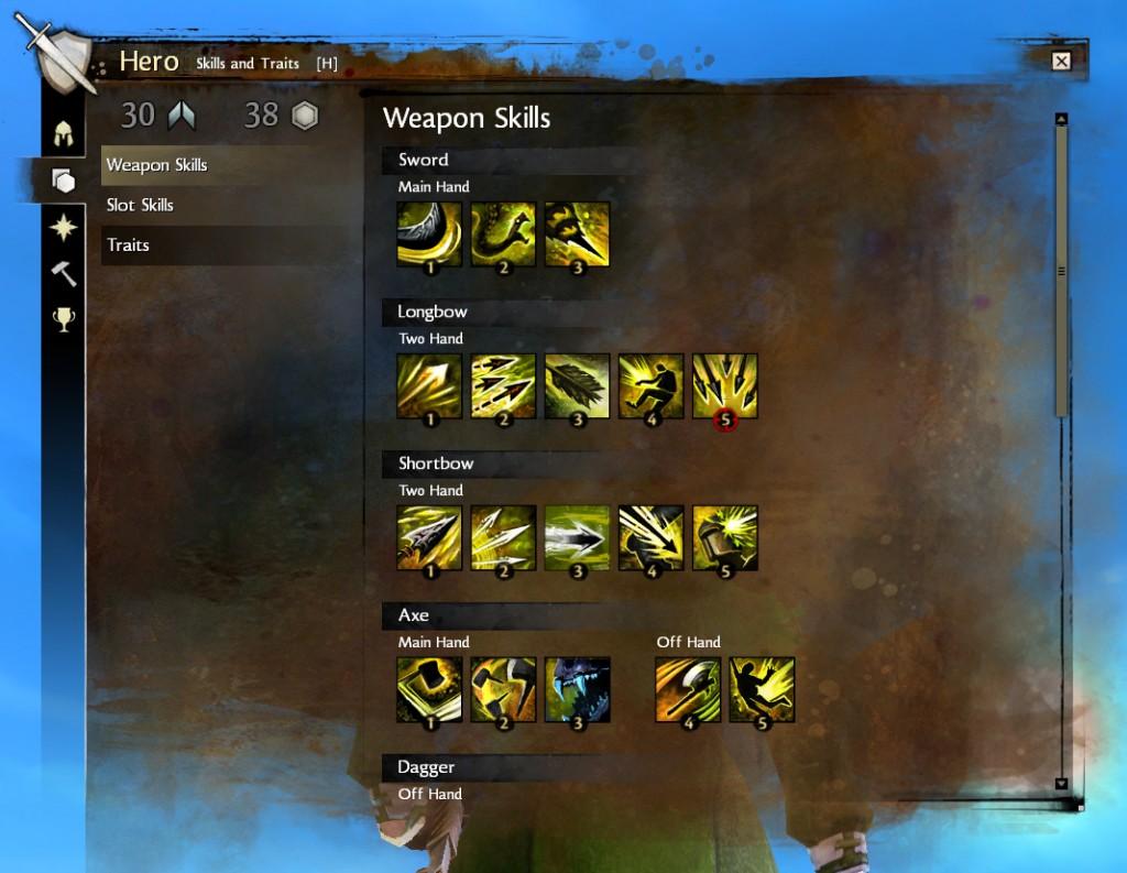 Guild Wars 2 igūdžiai ginklui
